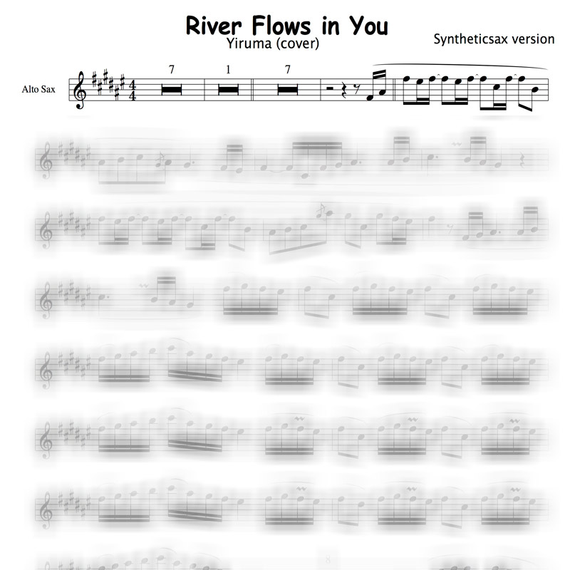 All Music Chords sheet music for river flows in you : Yiruma - River Flows in You (Backing track & Sheet music for ...
