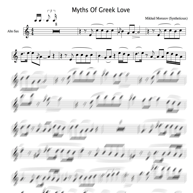 Syntheticsax - Myths Of Greek Love (Backing Track and Score for ...