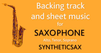 Saxophone backing track new song