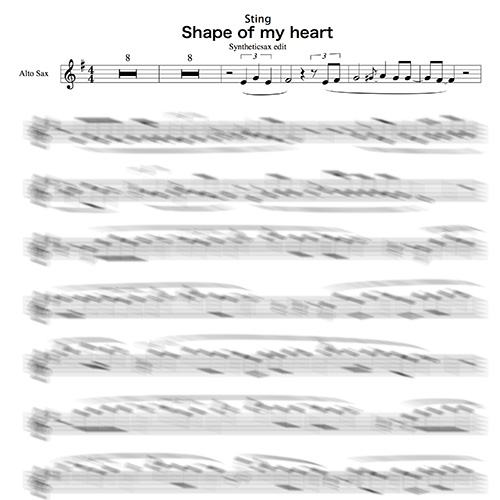 Sting - Shape of my heart (Backing track and sheet music for Saxophone Alto  & Tenor)