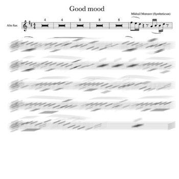 Sax alto good mood score