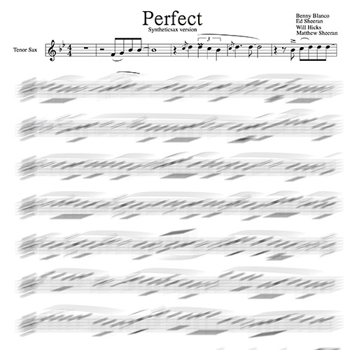 Ed Sheeran – Perfect [Club Version] (Backing track & Sheet