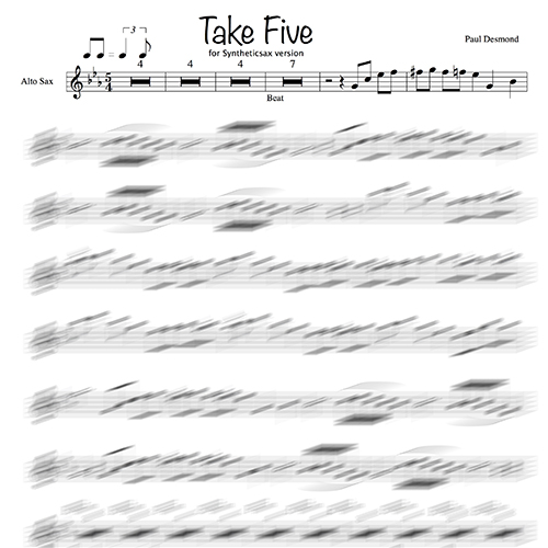 Paul Desmond Take Five Syntheticsax Version Sheet Music