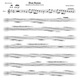 Blue Bossa Backing Track score
