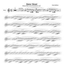 Baker Street backing track Flute