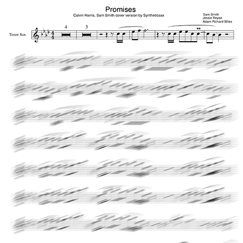 Calvin Harris, Sam Smith - Promises (Backing track & Sheet music fro  saxophone alto, tenor and flute) Cover remix by Syntheticsax