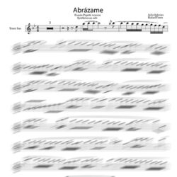 Abrazame_sax_tenor_backig_track_sheet_music