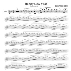 Violin sheet music Abba - Happy New Year