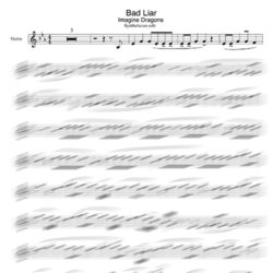 Imagine Dragons Bad Liar violin sheet music