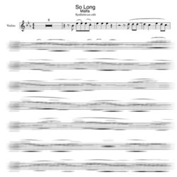 Malfa - So Long Violin sheet music