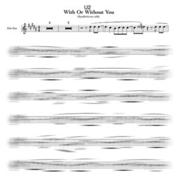 With Or Without You saxophone sheet music