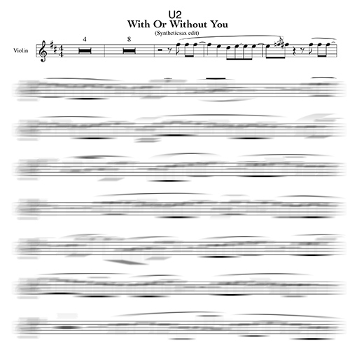 U2 With Or Without You Sheet Music And Backing Track For Alto Saxophone Tenor Saxophone And Violin