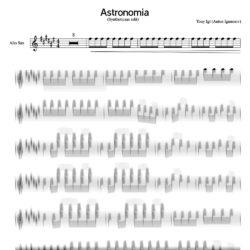 astronomia_sheet_music