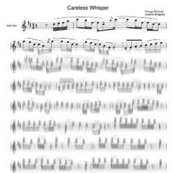 george_michael_careless_whisper_sheet_music